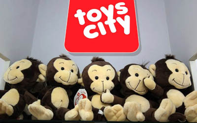 Tobi the Monkey- Toys City Mascot